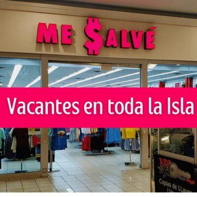 La empresa Me Salvé ofrece empleos en sus diferentes tiendas